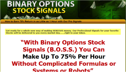 My binary options signals review